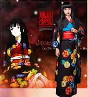 Quimono japonês tradicional Venda Quente Manga quimono Cosplay Inferno menina Roupão estilo Japonês