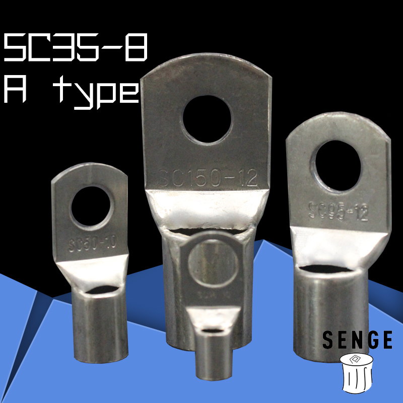 1piece SC(JGK)35-<font><b>8</b></font> tinned copper cable lugs crimp type Electric power fittings equipment contact A type National Standard image