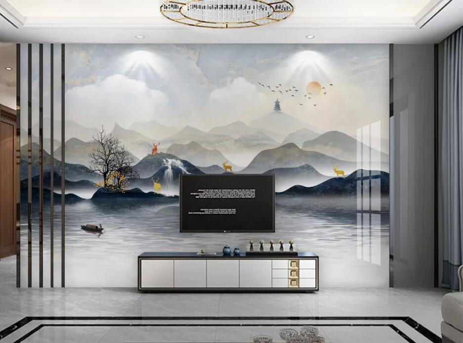 Private custom wallpaper mural new style marble marble abstract TV bedroom living room background wallpaper