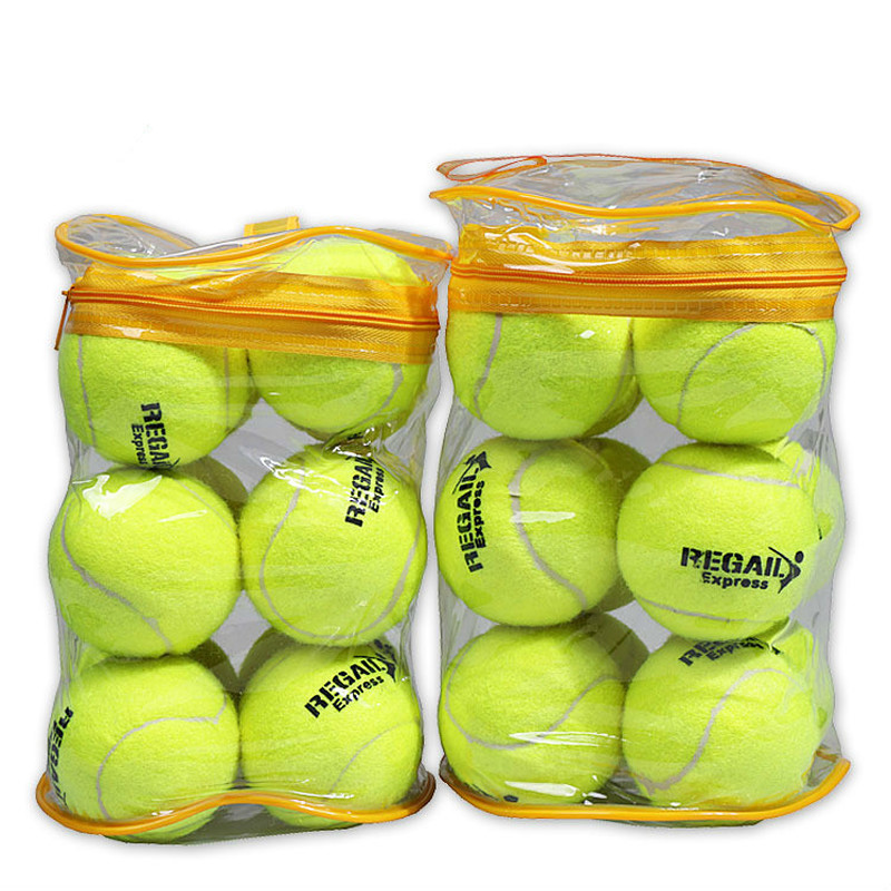 12pcs Tennis Ball High Elasticity Training Ball Natural Rubber And Special Woolen Competition Tennis Ball