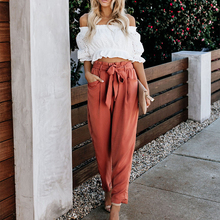 High Waist Lace-up Fashion Casual Trousers  New Women's Loose Summer Pants Women Wide Leg Women Pants  Plus Size Pants new women pants high waist wide leg pants women s elegant lace trousers streetwear plus size women wide leg pants new hot sale