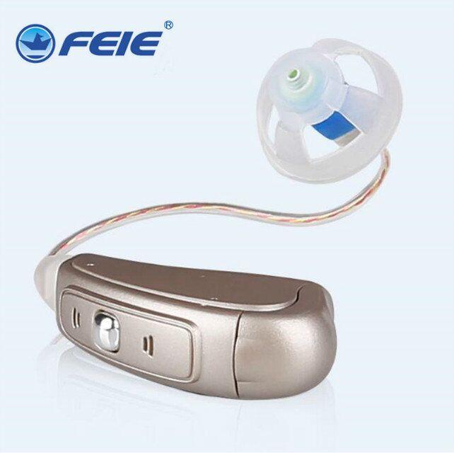 все цены на Tinnitus Hearing Aid Digital RIC MY-20 Batteries A312 Earplugs Digital Noise Cancellation hearing aid Drop shipping онлайн