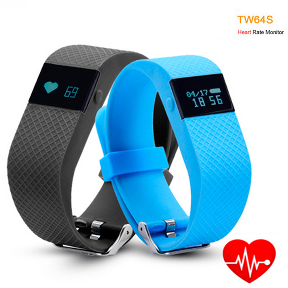 Heart rate apps such as pulse phone and heart rate - Tw64s Heart Rate Monitor Smart Band Pulse Fitness Bracelet Activity Tracker Wristband For Ios Android Mobile Phone Pk Fit Bit