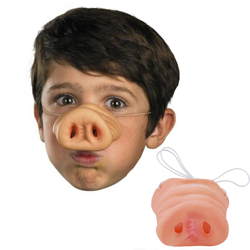New 1Pc Halloween Cosplay Simulation Rubber Pig Nose Funny Mask Fake Snout