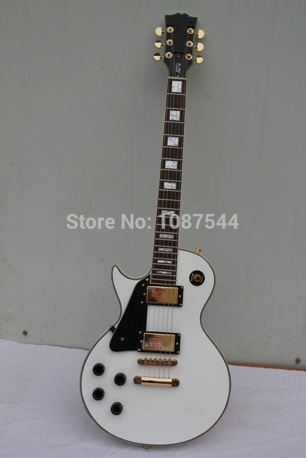 best price hot top quality g lp custom left hand white electric guitar free shipping in guitar. Black Bedroom Furniture Sets. Home Design Ideas