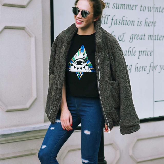Fashion Solid Slim Faux Fur Coat Women 2018 Casual Autumn Winter Warm Soft Fleece Long Sleeve Thick Teddy Coat Outerwear Jacket
