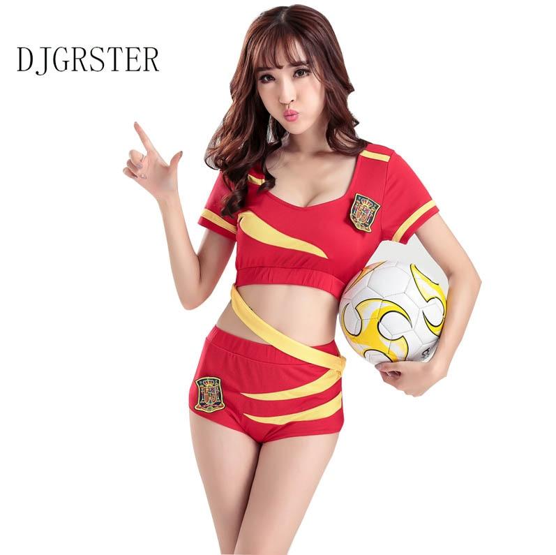 DJGRSTER Sexy High School Cheerleader Costume <font><b>Girl</b></font> aerobics dance Cheer <font><b>Girls</b></font> <font><b>Race</b></font> Car Driver Uniform Party Tops and Shorts