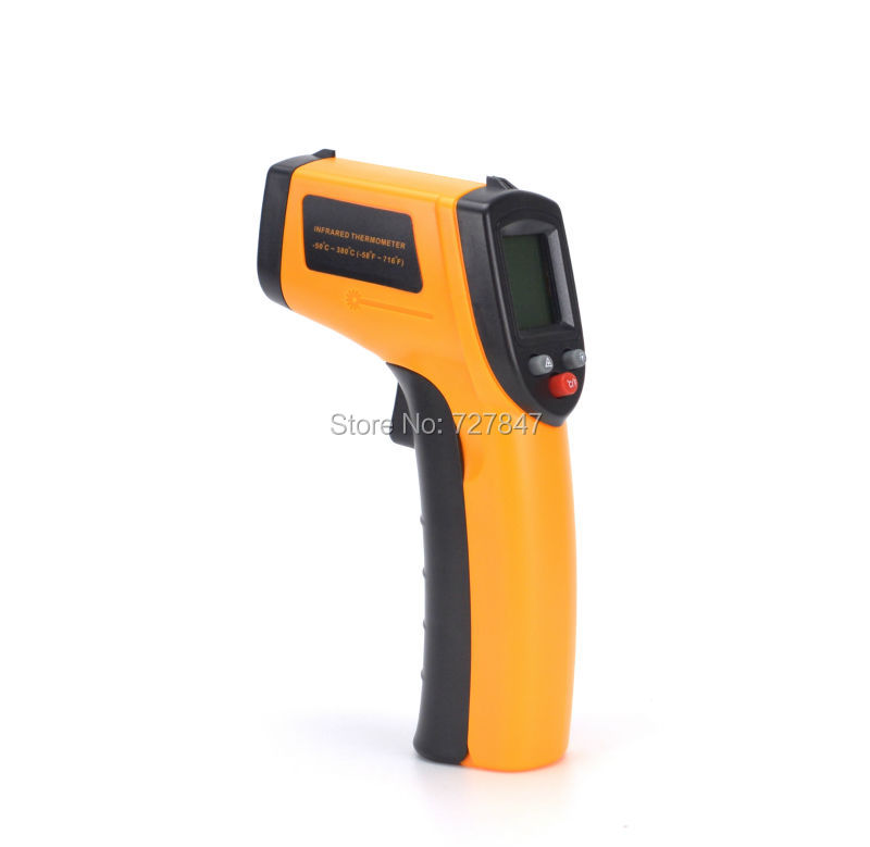 NEW Digital Termomete Infrared Thermometer IR Gun Style Non-contact Temperature Measurement Device For RC Motor / ESC
