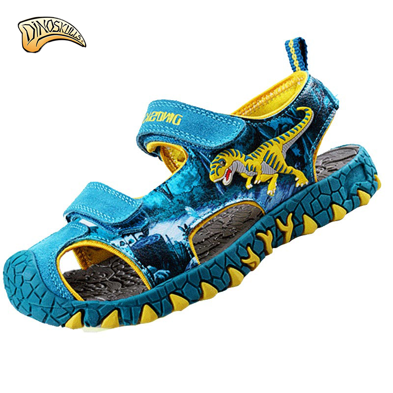 boys shoes 2017 Summer Flashing lights childrens shoes boys sandals children beach sandals kids 3D dinosaur sandals SN178