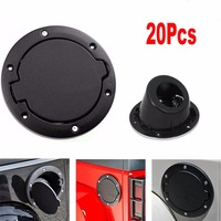 Chuang Qian Black ABS Fuel Filler Cover Gas Tank Cap 2/4 Door For Wrangler JK 2007 2018 (20Pcs)