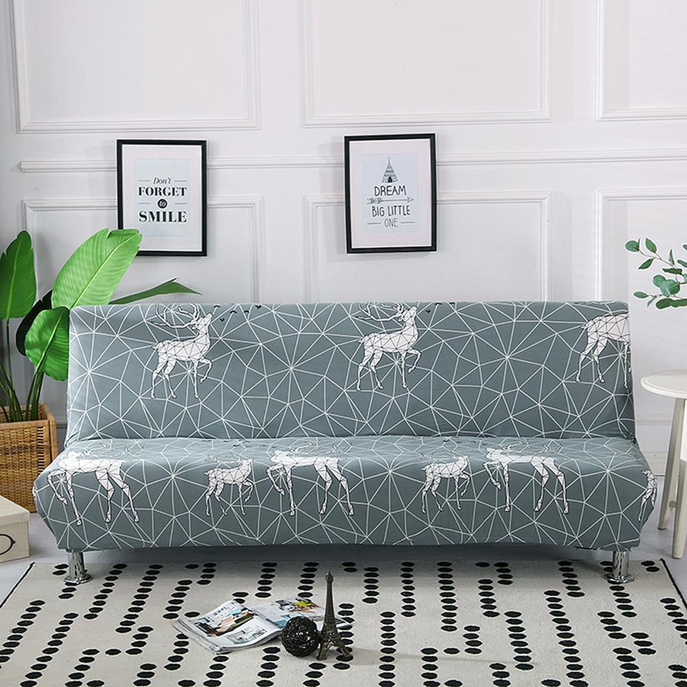 Sofa Bed Cover No Armrest Folding