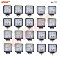 Light Sourcing 20PCS 4 3 Inch 4D Lens Bridgelux Chips 48W LED Work Light For Offroad