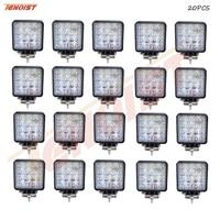 Light Sourcing 20PCS 4 3 Inch 4D Lens Bridgelux Chips 48W LED Work Light For Offroad