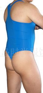 Image 3 - Mens bodysuit Thong Leotard Nylon spandex High Cut Race Back G3282 silky soft