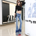 High Quality Promotion Women's Slim Boot Cut Jeans Fashion  Bottom Trousers Comfortable Flares denim Pants woman