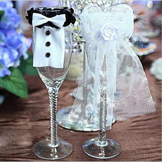 Braut Und Brautigam Hochzeit Glas Cup Cover Brautschleier Toasten