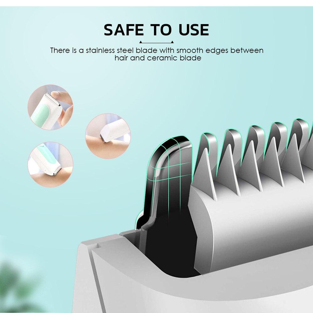 Xiaomi Mijia Yueli HR-308 tondeuses à cheveux tondeuses IPX7 étanche électrique tondeuses une coupe de cheveux Machine barbier pour les enfants - 4