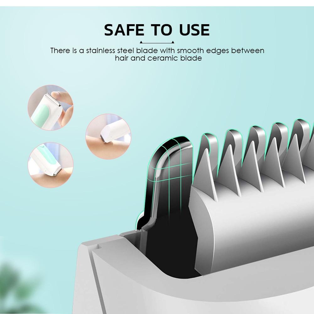 Xiaomi Yueli HR-308 coupe-cheveux électrique tondeuses IPX7 coupe-cheveux étanche pour bébé - 3