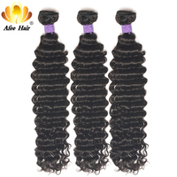 Aliafee Brazilian Deep Curly Hair 1PC Remy Human Hair Extension Natural Color Can Be Dyed And