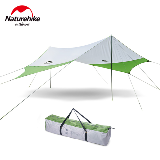 Naturehike Large Tarp Outdoor Sun Awning with Support Ultralight Sun Shelter for Camping Beach Park