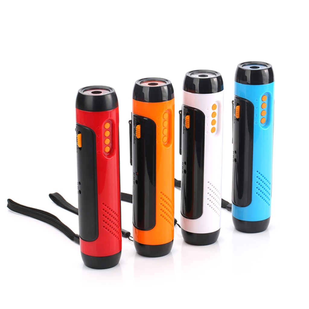 Alarm FM Radio Mobile Phone Charging Hand-operated Powerful Generate LED Torch 1