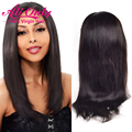 7A Indian Straight Virgin Hair Full Lace Wigs Lace Front Human Hair Wigs For Black Women Glueless Full Lace Wigs With Baby Hair