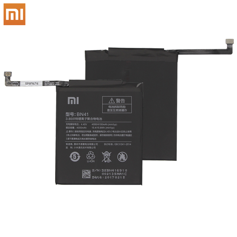 Xiao Mi Original Replacement Phone Battery BN41 4000mah For Xiaomi Redmi Note 4 / Note 4X MTK Helio X20 Retail Package + Tools