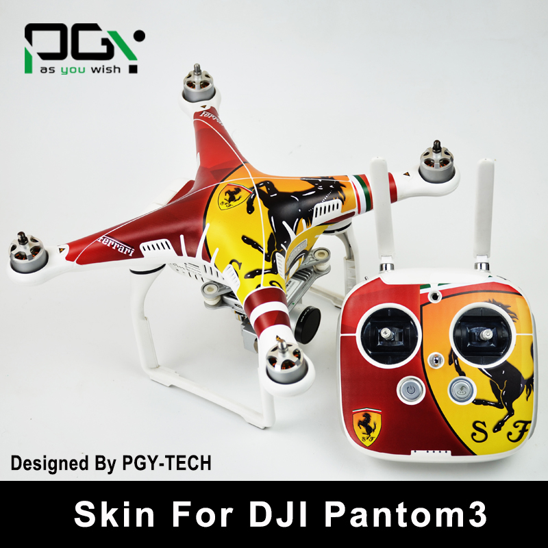 PGY PVC Stickers Skin For DJI Phantom 3 accessories Waterproof 3M Sticker professional Quadcopter Drone parts