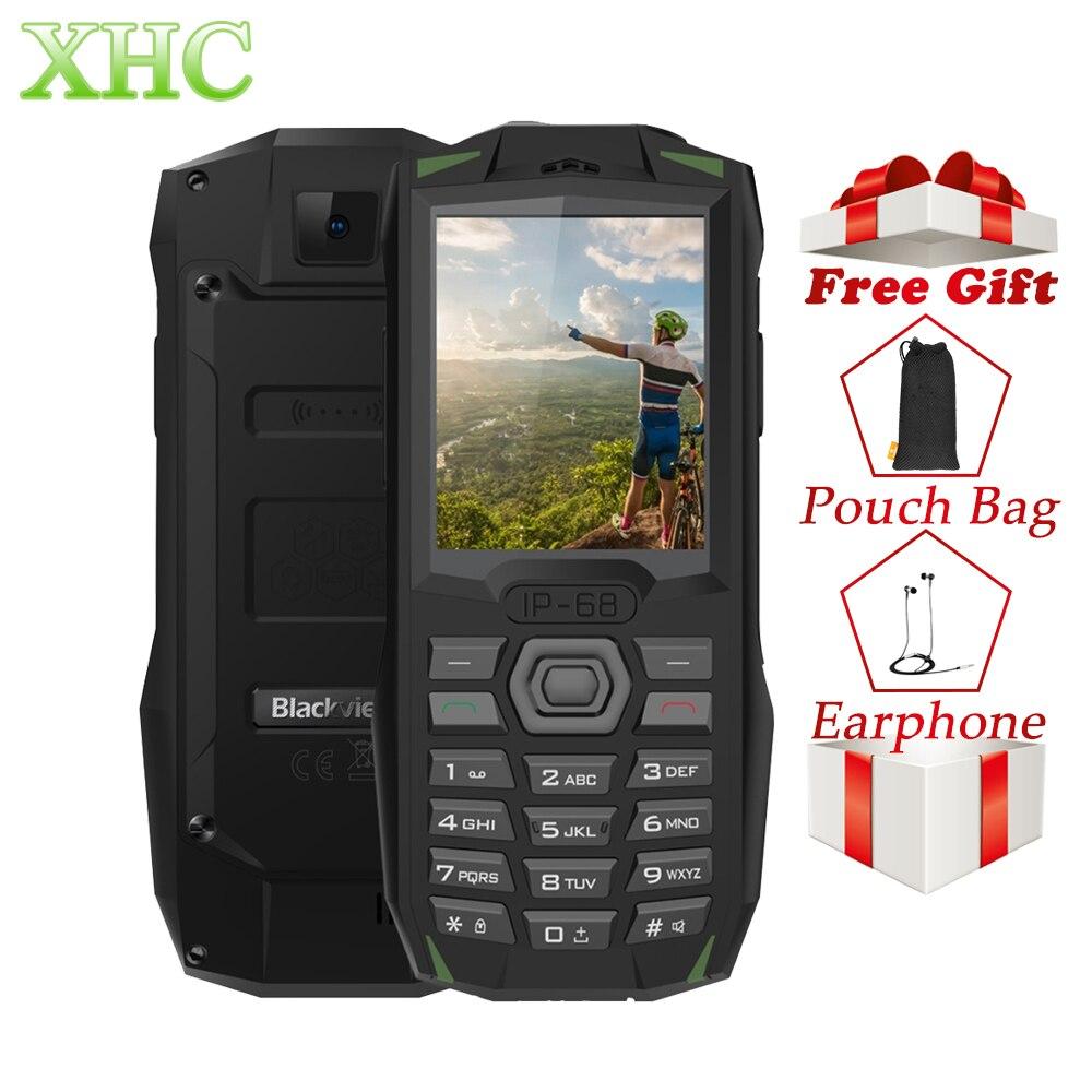 Blackview BV1000 téléphone mobile robuste IP68 Étanche antipoussière antichoc 3000 mAh 2.4 pouces FM Bluetooth GSM 2G Double SIM Téléphone Portable