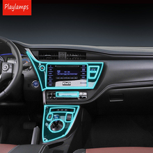 цены Car Styling For Toyota Corolla 2018 transparent Protective TPU Films Auto Shift Gear Covers For Toyota Corolla Car accessories