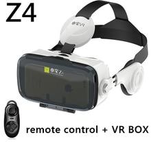 VR КОРОБКА BOBOVR Z4 Наушники 3d-очки Виртуальной Реальности очки google Картон с гарнитурой для iOS/Android 4.7-6 Смартфон