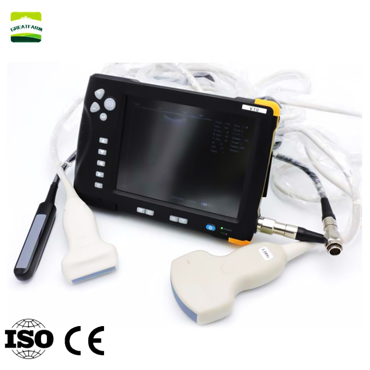 7 Inch LCD Screen Waterproof Portable Veterinary Ultrasound Scanner 8GB Memory Livestock Ultrasound Machine for cattle