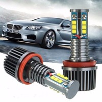 Free Shipping H8 LED HALO RING 120W Marker IV Generation Angel Eyes 3 Series E91 Touring For Bmw With Cree XBQ Chips Led