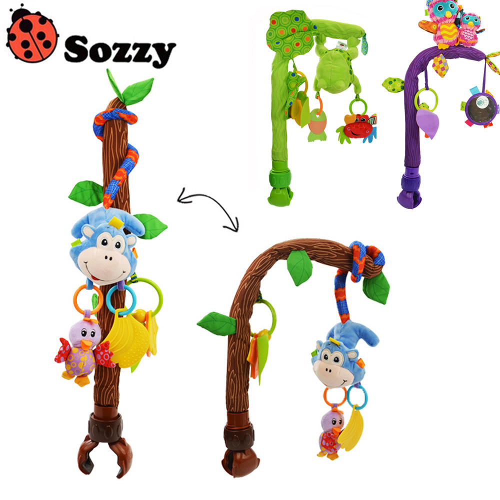 Sozzy Baby Stroller/Bed/Crib Hanging Toys For Tots Cots Rattles Seat Cute Plush Stroller Gifts