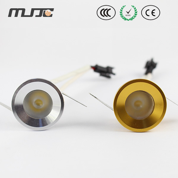 MJJC 5pcs/lot top quality super bright 1W Mini LED Downlights/LED Under Cabinet Light AC 90-260V for home/commercial light