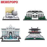 219 677pcs World Famous Architecture Mini Particles Building Blocks Toys For Children And Adults Mini Nanoblock