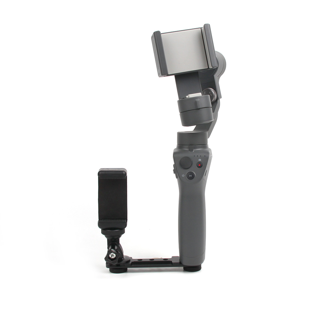 Smartphone Clip Holder Gopro Monitor Extension Bracket Support Mount Stabilizer for DJI OSMO Mobile 2 Smooth 4