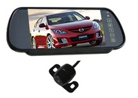 New Parking Assistance Video System 2 In 1 4 3 Inch Color LCD Car Mirror Monitor