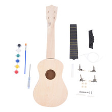 53.5 x 12cm Simple and Fun DIY Ukulele DIY Kit Tool Guitar Handwork Support Painting Children's Toy Assembly for Amateur(China)