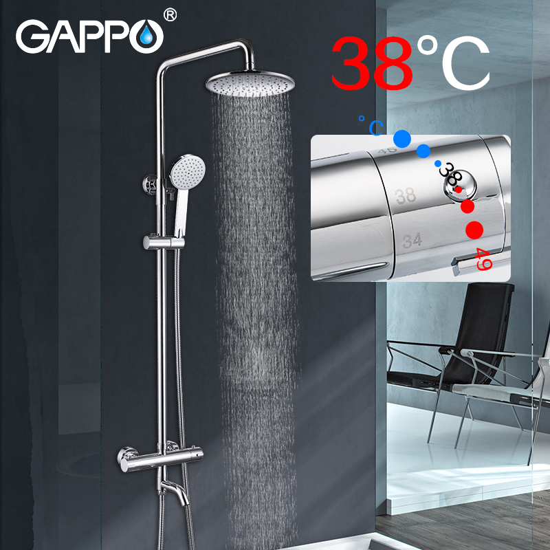 Permalink to GAPPO Sanitary Ware Suite Brass faucet set waterfall bathtub shower faucet Bath Shower tap basin shower wall mixer taps