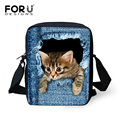Diseñador de la marca mujeres messenger bags pet dog cat impresión niñas Cross Body Bag Bolso Crossbody Lindo Pug Bulldog Francés para mujer