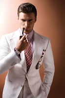 Two Buttons Notch Lapel Tuxedos Custome Homme Men Suits Cool Handsome White Terno Slim Fit Blazer