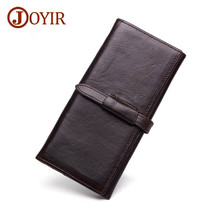 JOYIR 2019 Genuine Leather Wallet Men Wallets Card Holder Vintage Long Male Clutch Wallets Business Leather Purse For Men 9308 genuine 922 9308 right