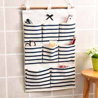 8 Pockets Hanging Door Wall Mounted Clothing Jewelry Closet Storage Bags