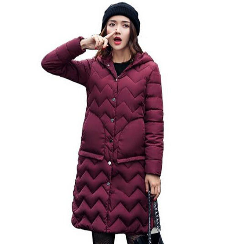 Parkas For Women Winter warm cotton hooded Jacket Hooded Coat Long Loose Womens Winter Jackets And pocket Coats Thick QH0378