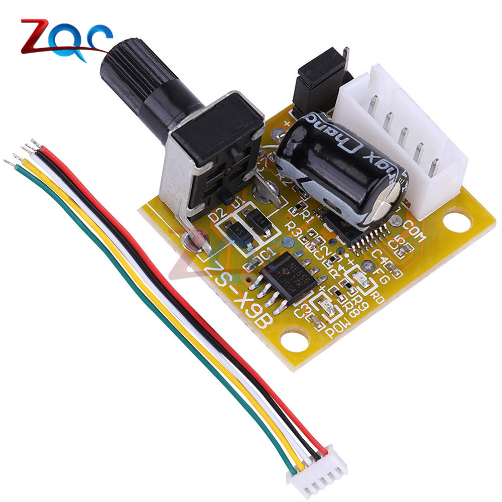 DC 5V-12V 2A 15W Brushless Motor Speed Controller No Hall BLDC Driver Board Module