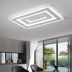 Ultra-cienkie montowane na powierzchni nowoczesne lampy sufitowe Led lamparas de techo prostokątna akrylowa kwadratowa lampa sufitowa