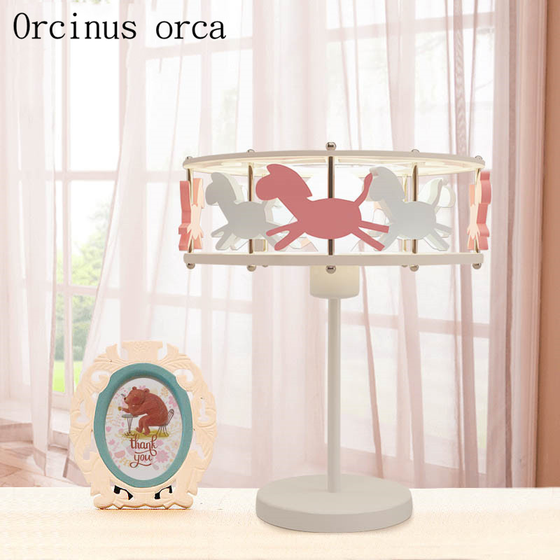 Led Lamps Led Table Lamps Obliging Creative Cute Trojan Horse Desk Lamp Girl Bedroom Childrens Room Lamp Cartoon Personality Led Animal Decorative Desk Lamp Attractive And Durable