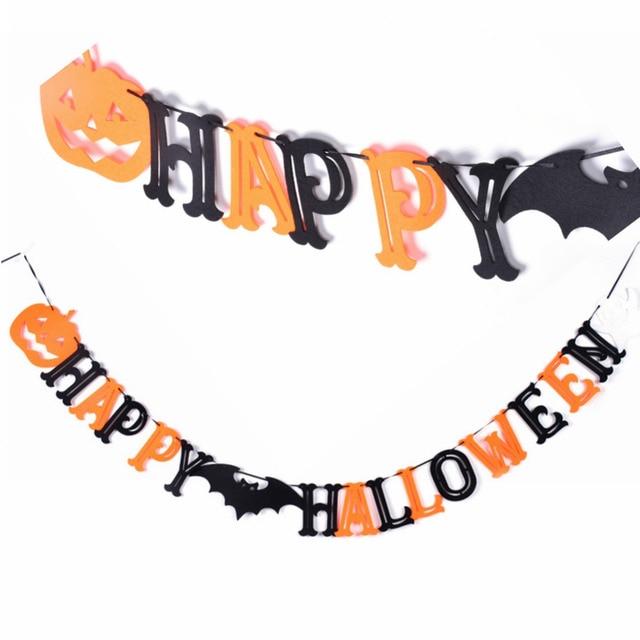 Halloween Garland | Felt Happy Halloween Garland Halloween Party Halloween Banner Party