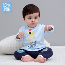 Dinstry Spring and autumn Boys Girls Clothes lengthy sleeves  Newborn T-shirt+Pants 2pcs go well with babys clothes units